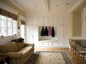 residential interior painted built-ins