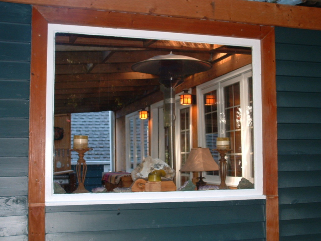 exterior stain: window trim: lapboard siding